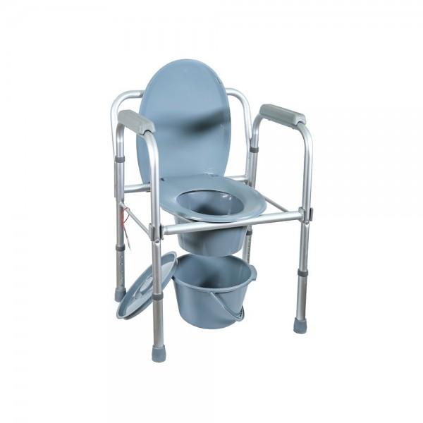 Кресло-туалет облегченное со спинкой Amrus AMCB6808