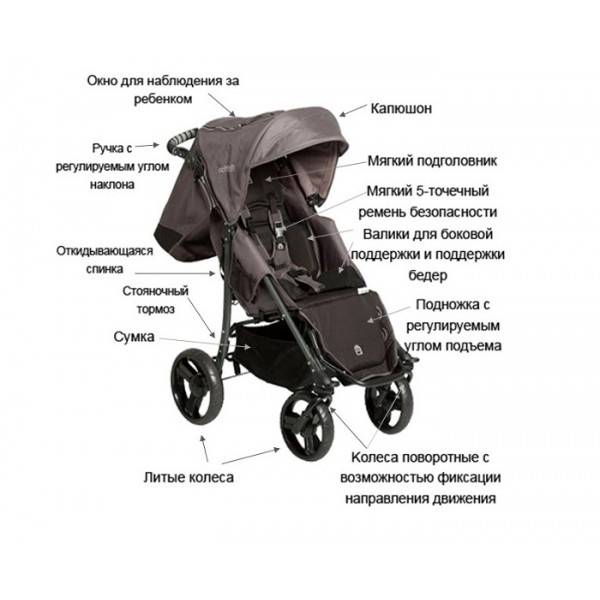 Кресло-коляска Special Tomato EIO Push Chair для детей